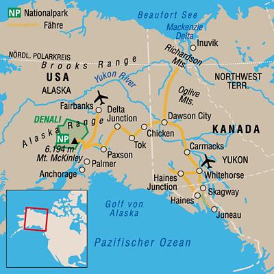 Polarkreis Alaska Karte.Alaska Yukon